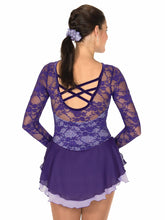 Load image into Gallery viewer, J79/15 Lace Over Lavender Dress - Child 12-14