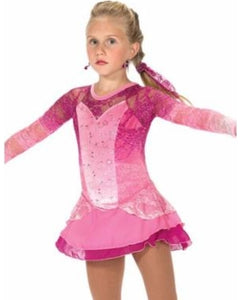J162/16 Lace Blush Dress - Child 8-10