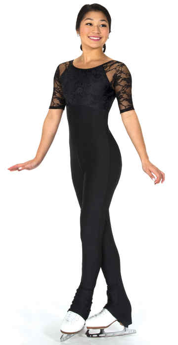 J294/17 Lace Overlay Catsuit
