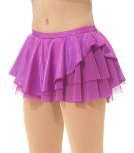 MD6307 Mondor Metallic Skirt - Rose Violet
