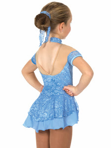 J024/17 Blue Lacy Belle Dress - Child 6-8