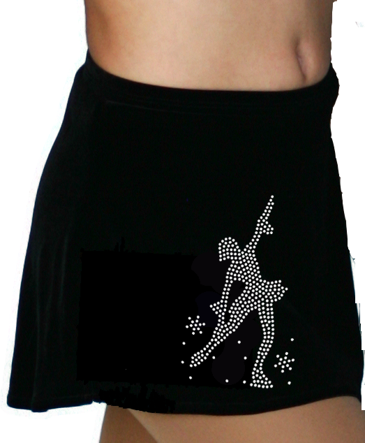 K01 ChloeNoel Crystal Skating Skirt