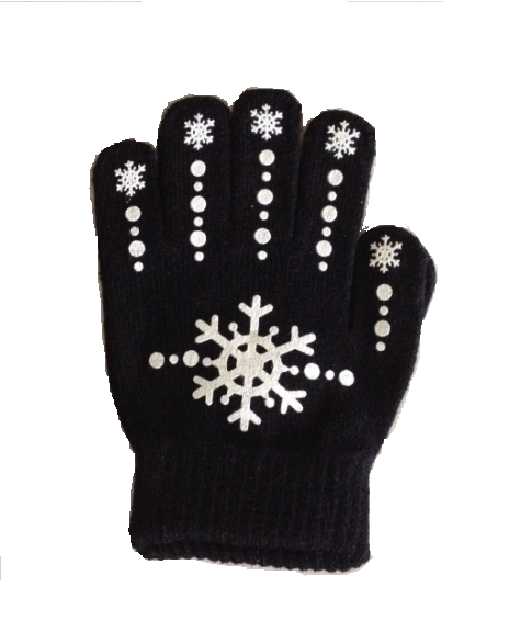 Youth Magic Stretch Gloves with Snowflake Logo