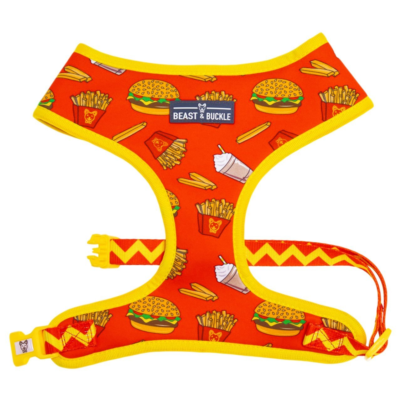 Burgers 'n' Fries Classic Dog Harness - Beast & Buckle