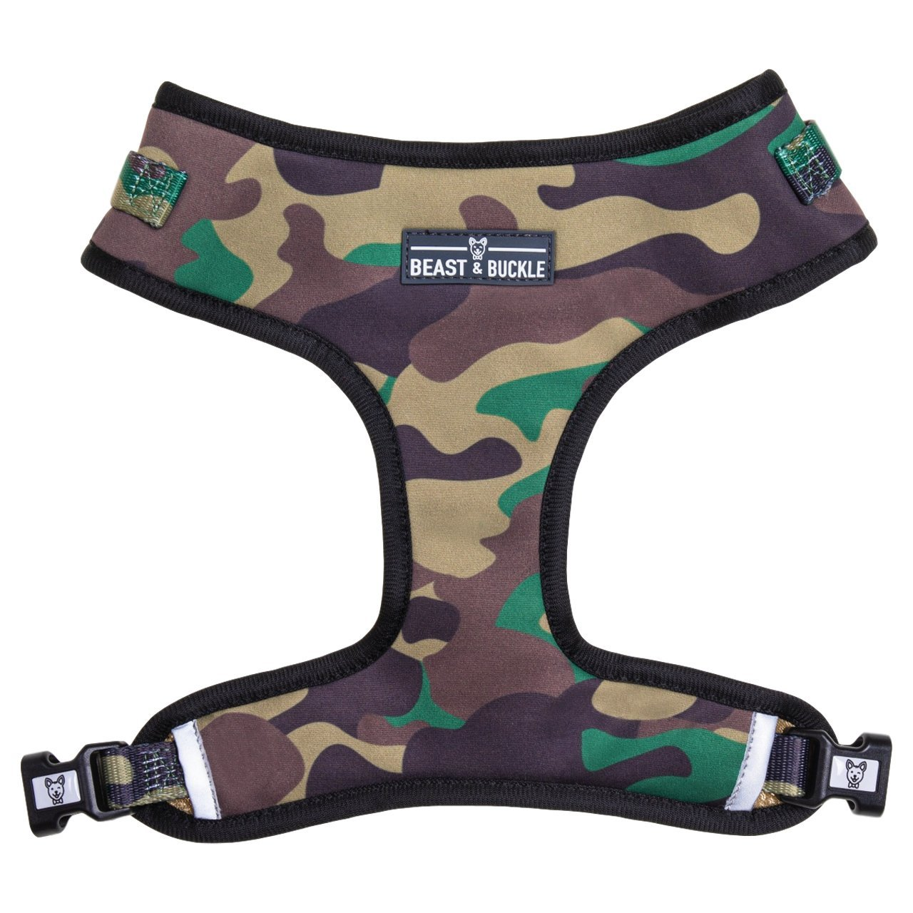 Camo Adjustable Dog Harness - Beast & Buckle