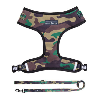 Camo Harness & Leash Set - Beast & Buckle