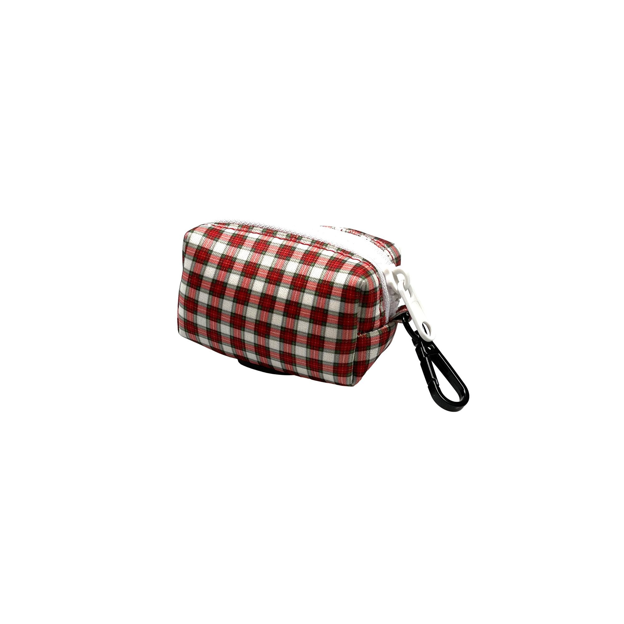 Christmas Plaid Poop Bag Holder - Beast & Buckle