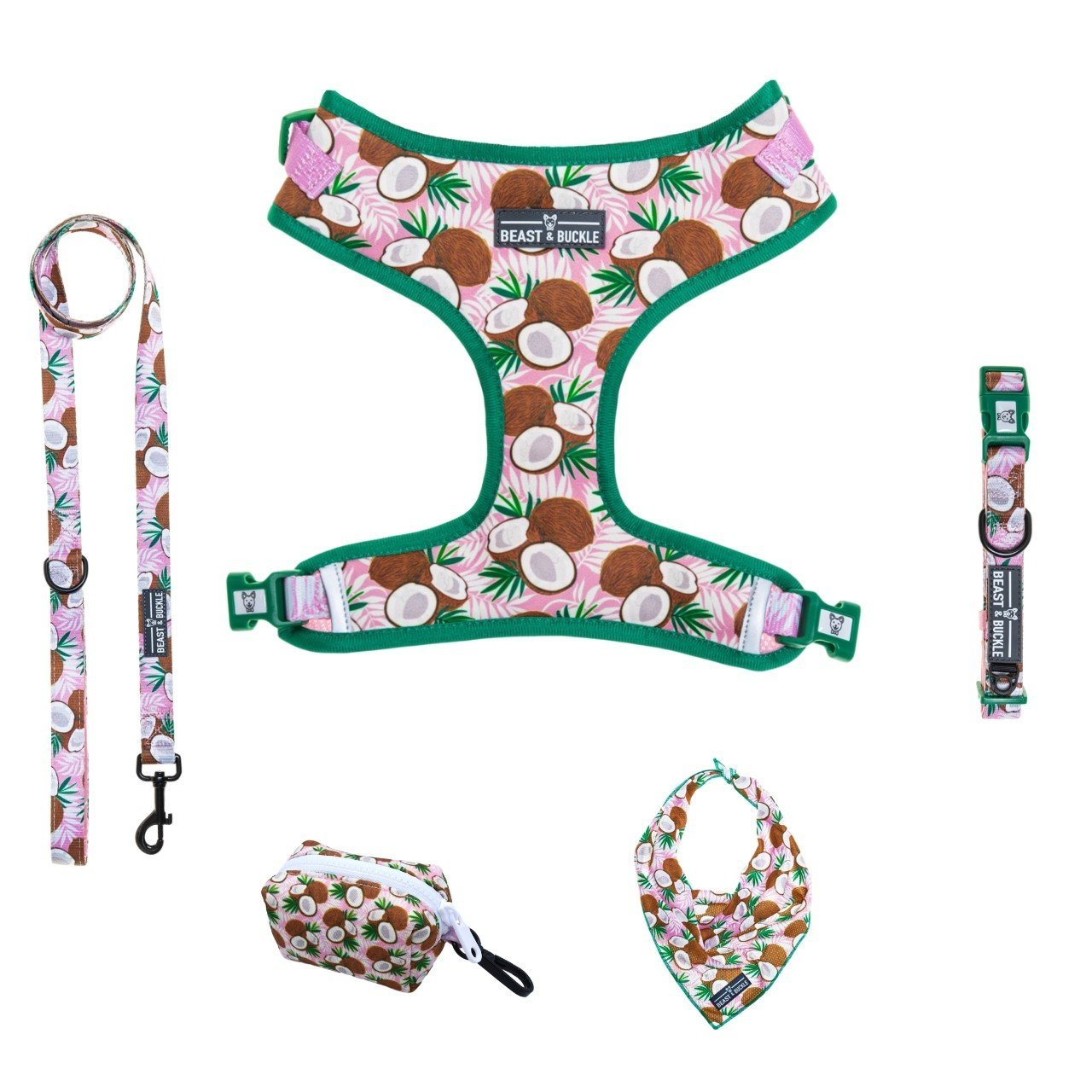 Coconut Adjustable Harness Collection Bundle - Beast & Buckle