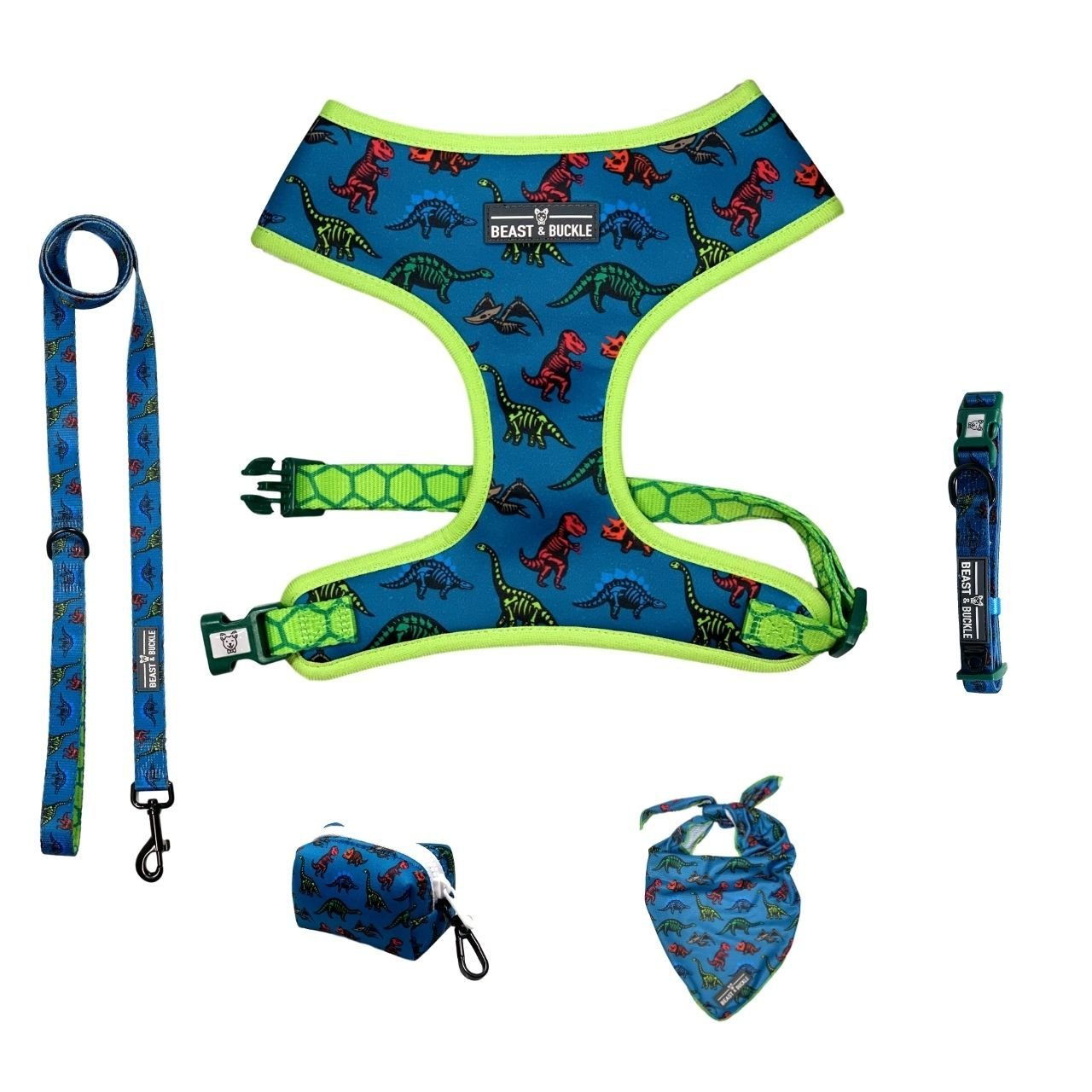 Dinosaur Classic Harness Collection Bundle - Beast & Buckle