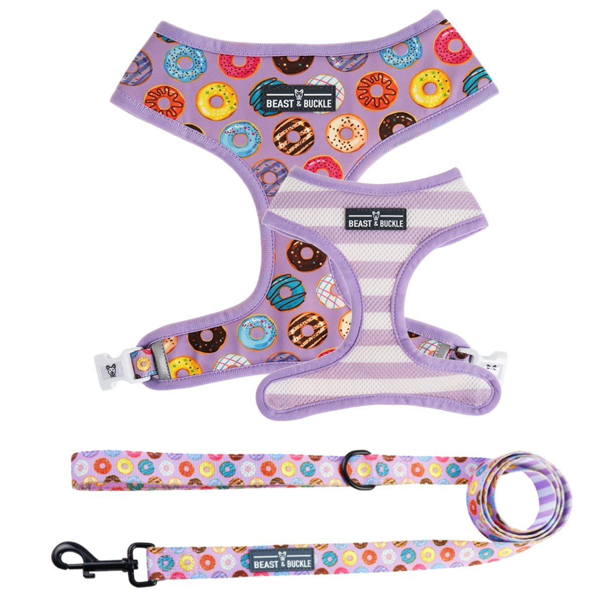 Donuts! Harness and Leash Set - Beast & Buckle