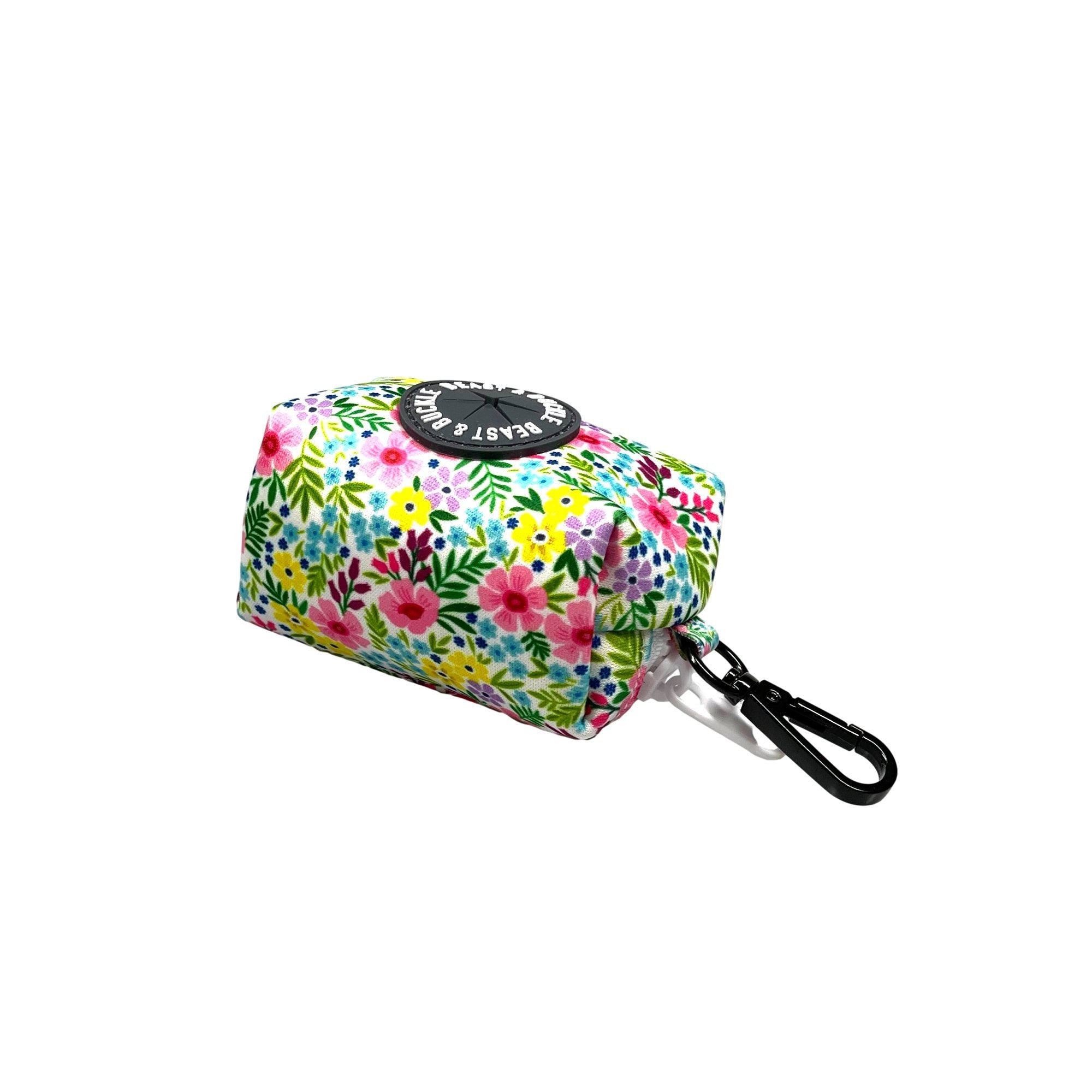 Floral Poop Bag Holder - Beast & Buckle