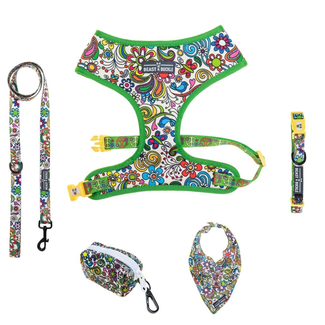 Flower Power Classic Harness Collection Bundle - Beast & Buckle