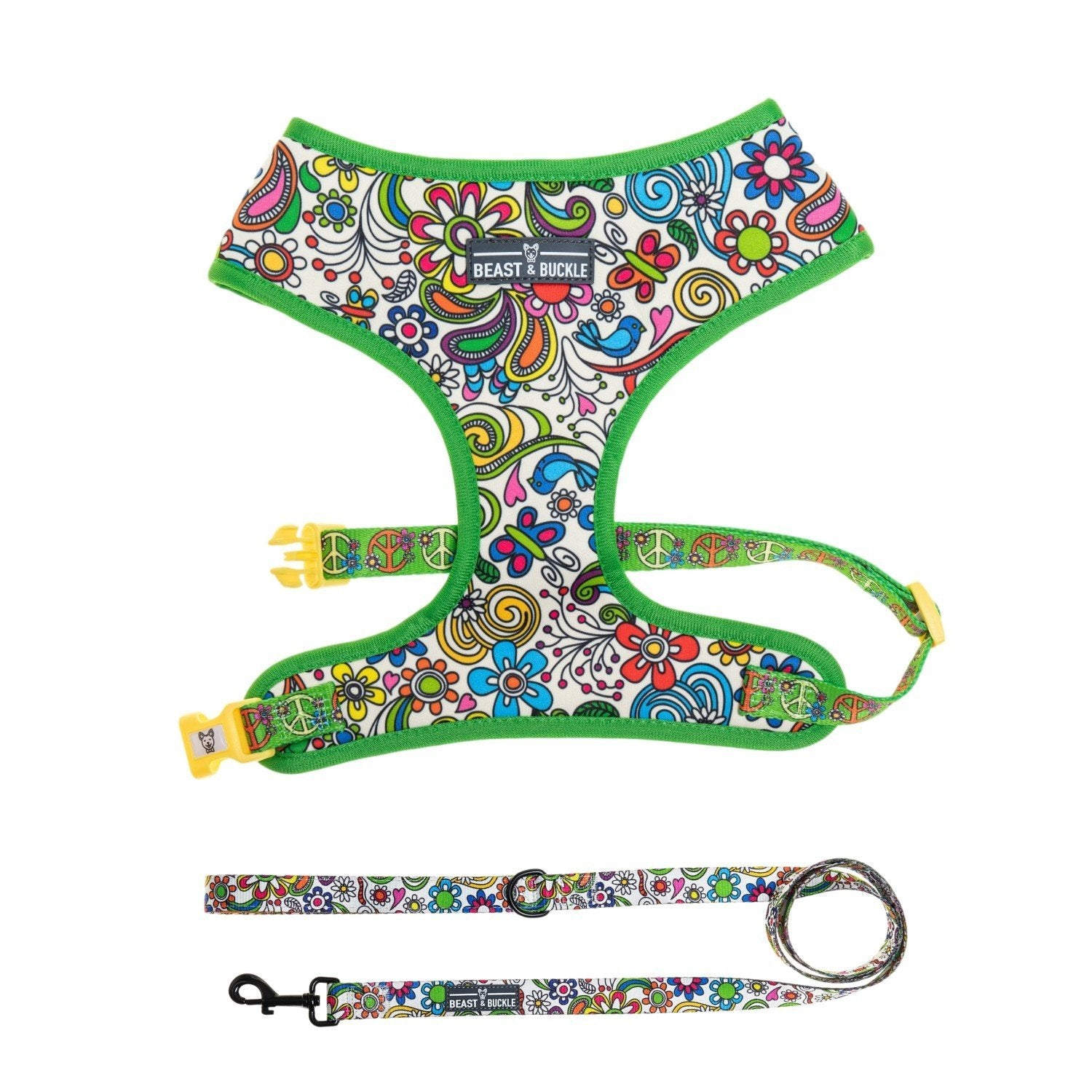 Flower Power Classic Harness & Leash Set - Beast & Buckle