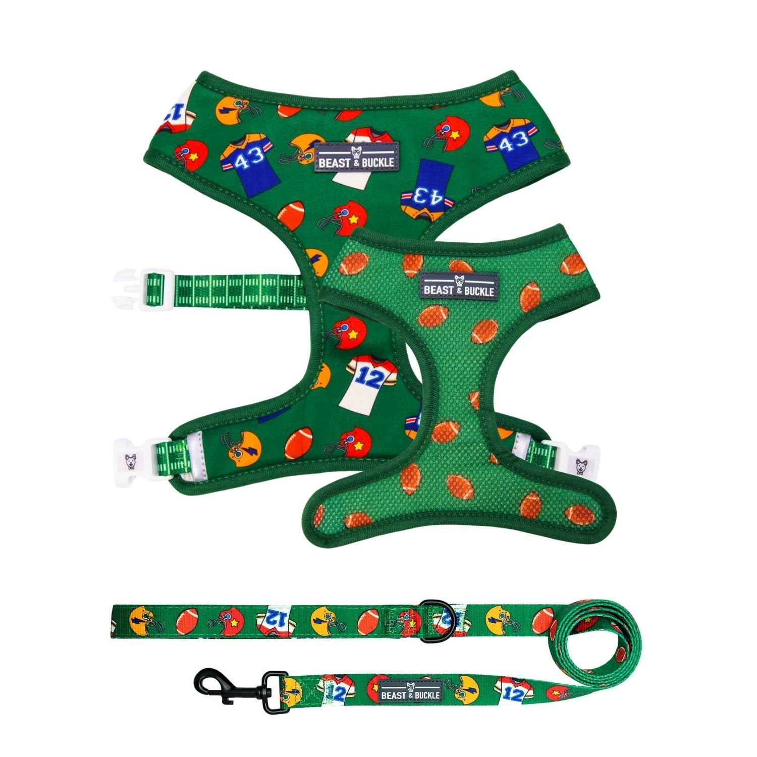 Football Harness and Leash Set - Beast & Buckle