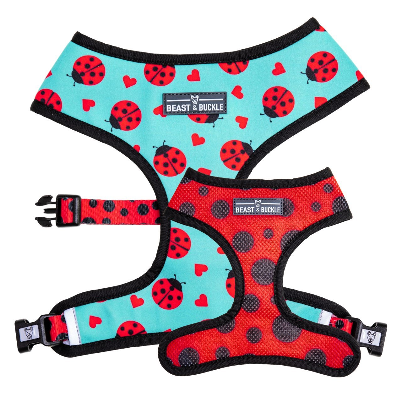 Ladybug Reversible Dog Harness - Beast & Buckle