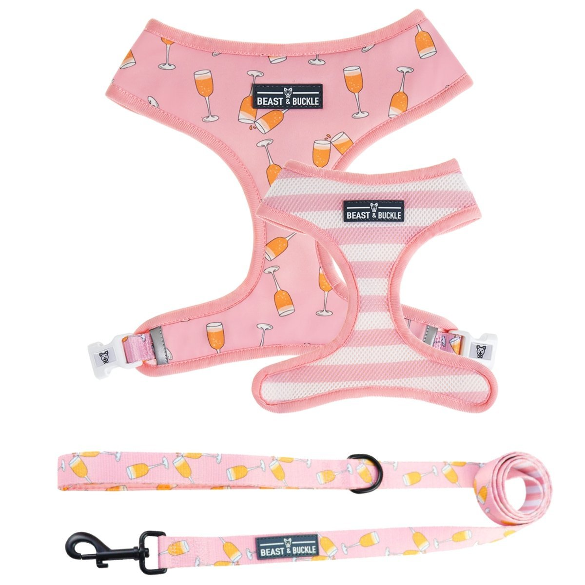 Mimosas Harness and Leash Set - Beast & Buckle