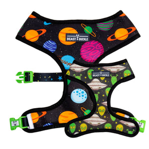 Outer Space Reversible Dog Harness