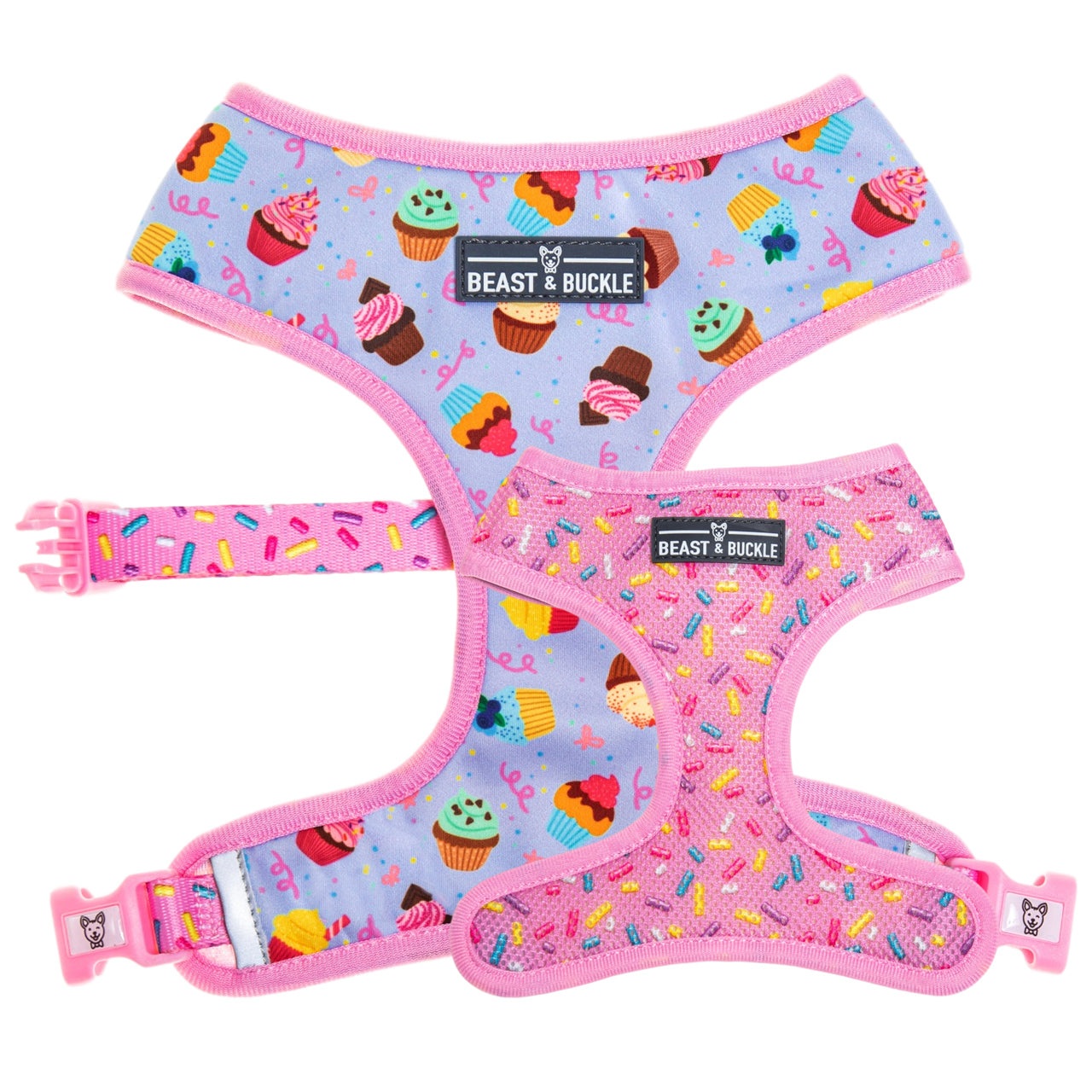 Cupcake Reversible Dog Harness