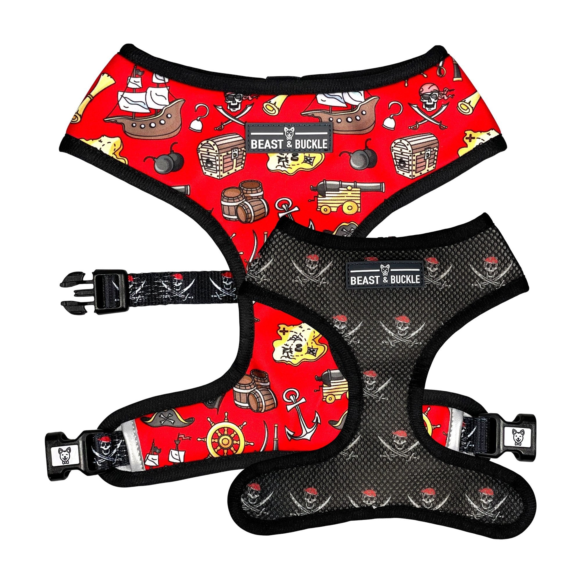 Pirate Reversible Dog Harness - Beast & Buckle
