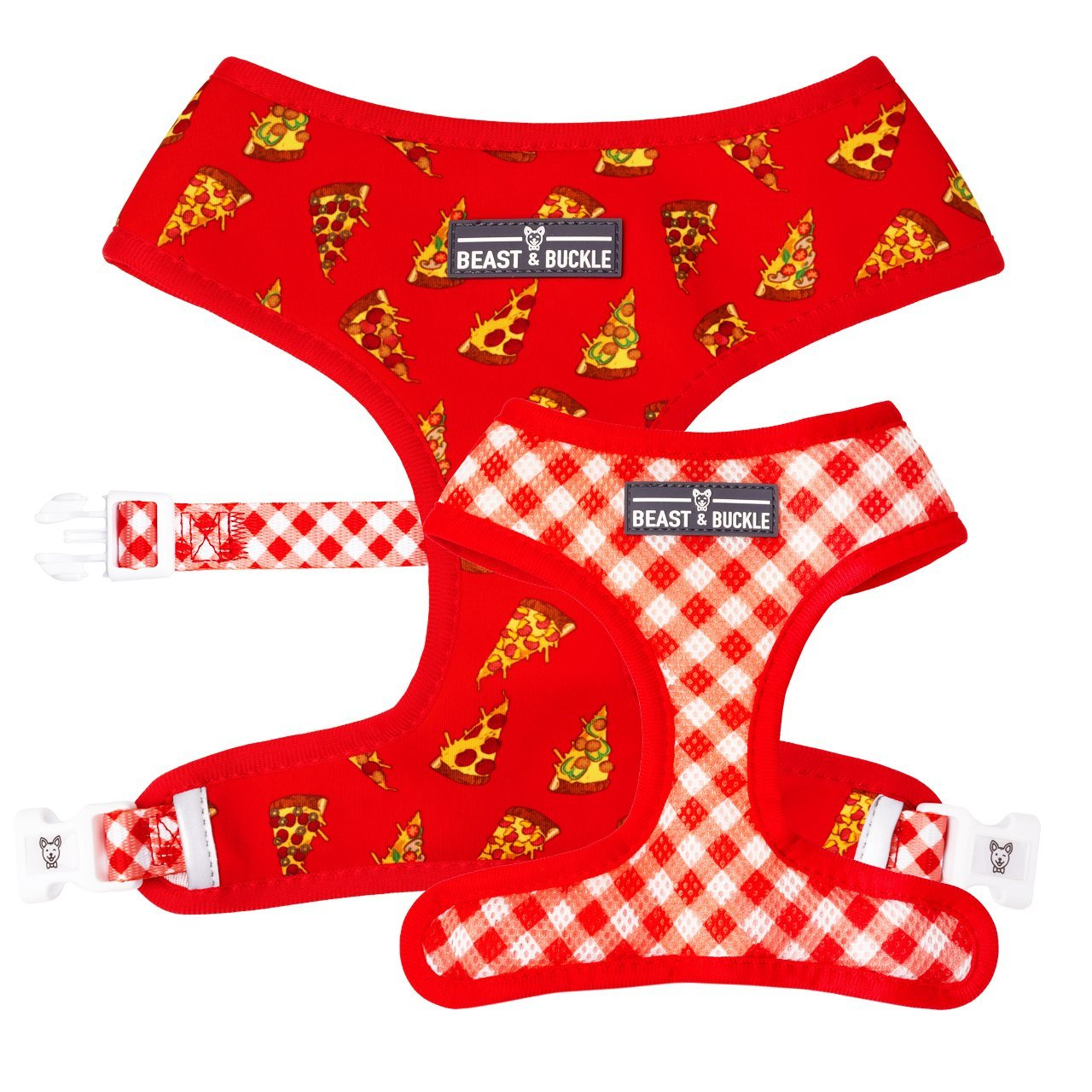 Pizza Reversible Dog Harness - Beast & Buckle
