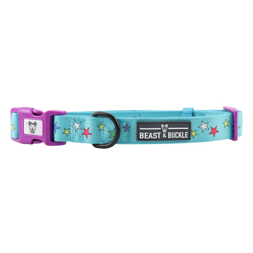 Rainbow Stars Dog Collar - Beast & Buckle