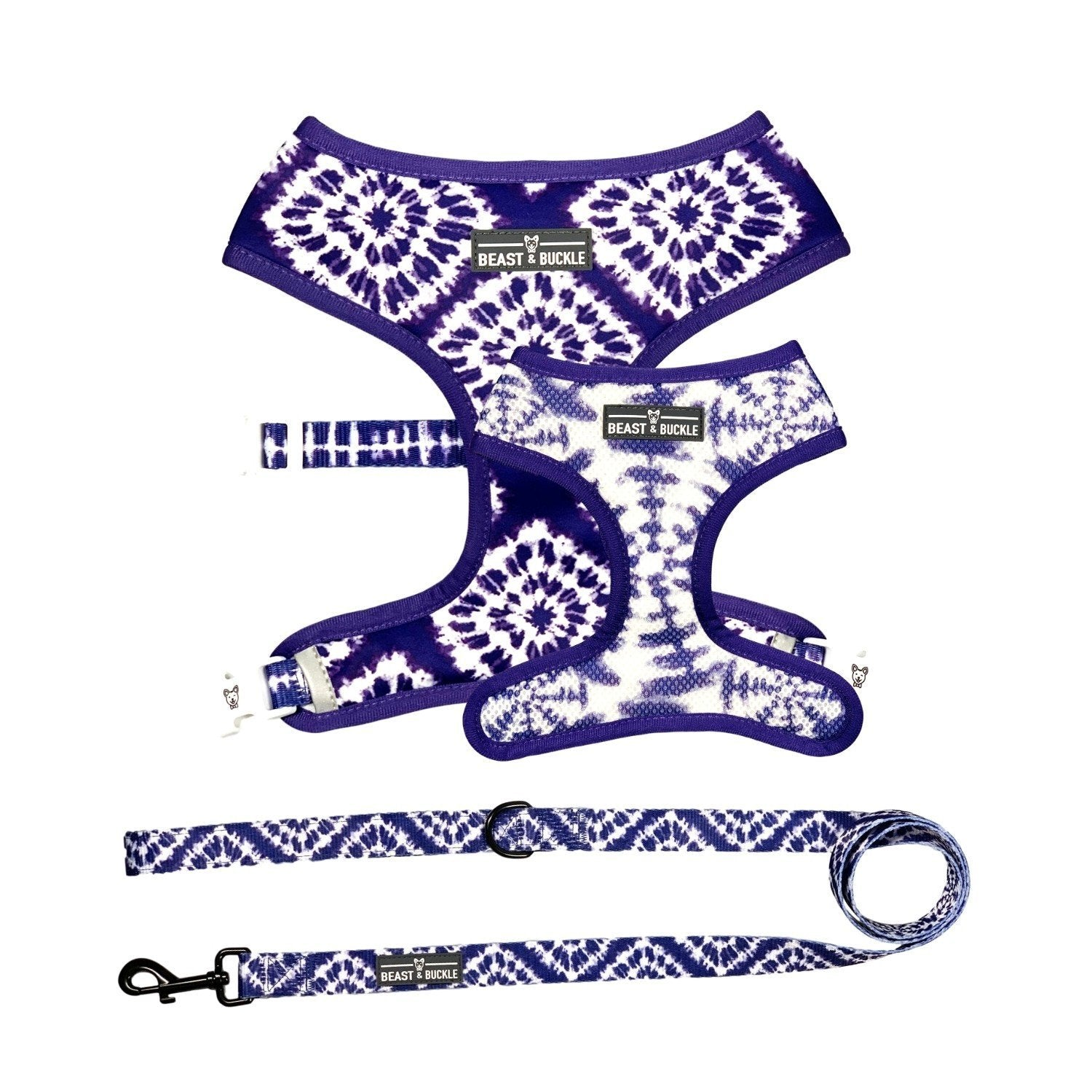 Shibori Tie Dye Harness and Leash Set - Beast & Buckle