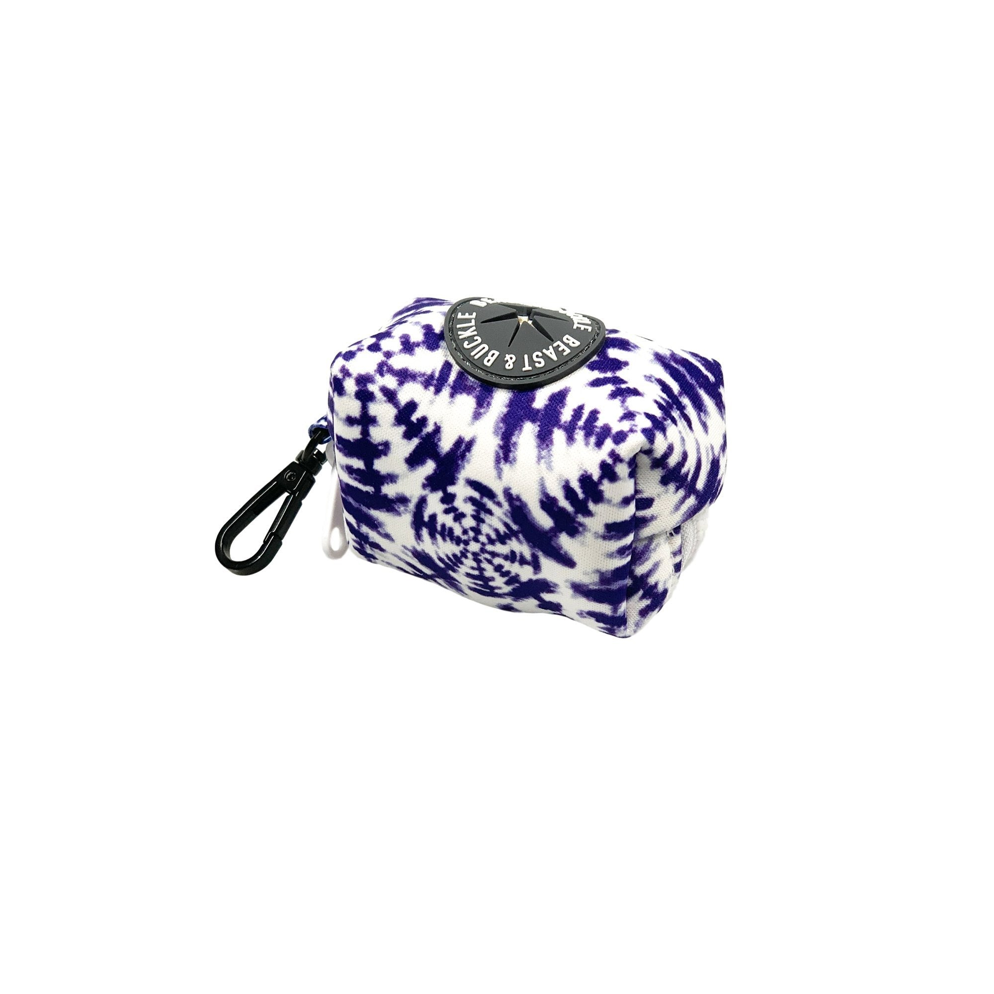 Shibori Tie Dye Poop Bag Holder - Beast & Buckle