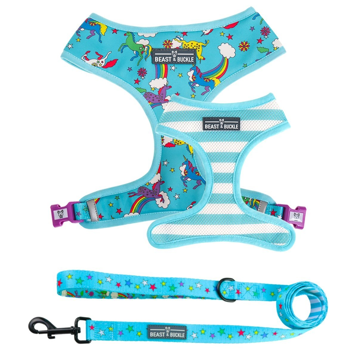 Unicorn Harness and Leash Set - Beast & Buckle