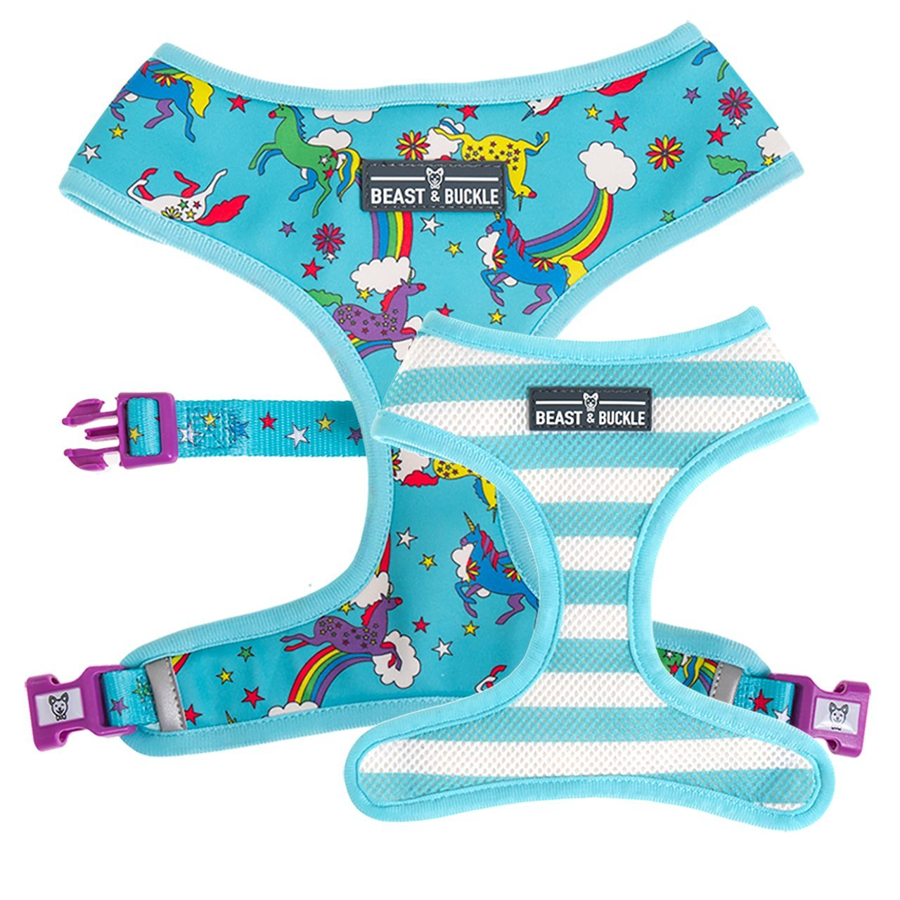 Unicorn Reversible Dog Harness - Beast & Buckle