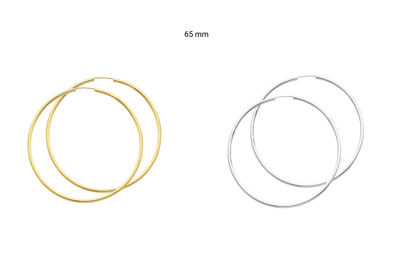 2mm Hoop Earrings