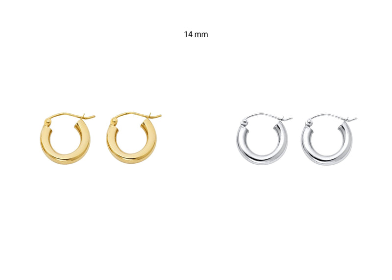 3mm Hoop Earrings