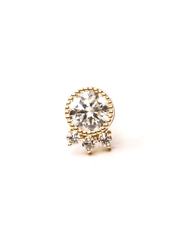 Round Triad Earring - Diamond