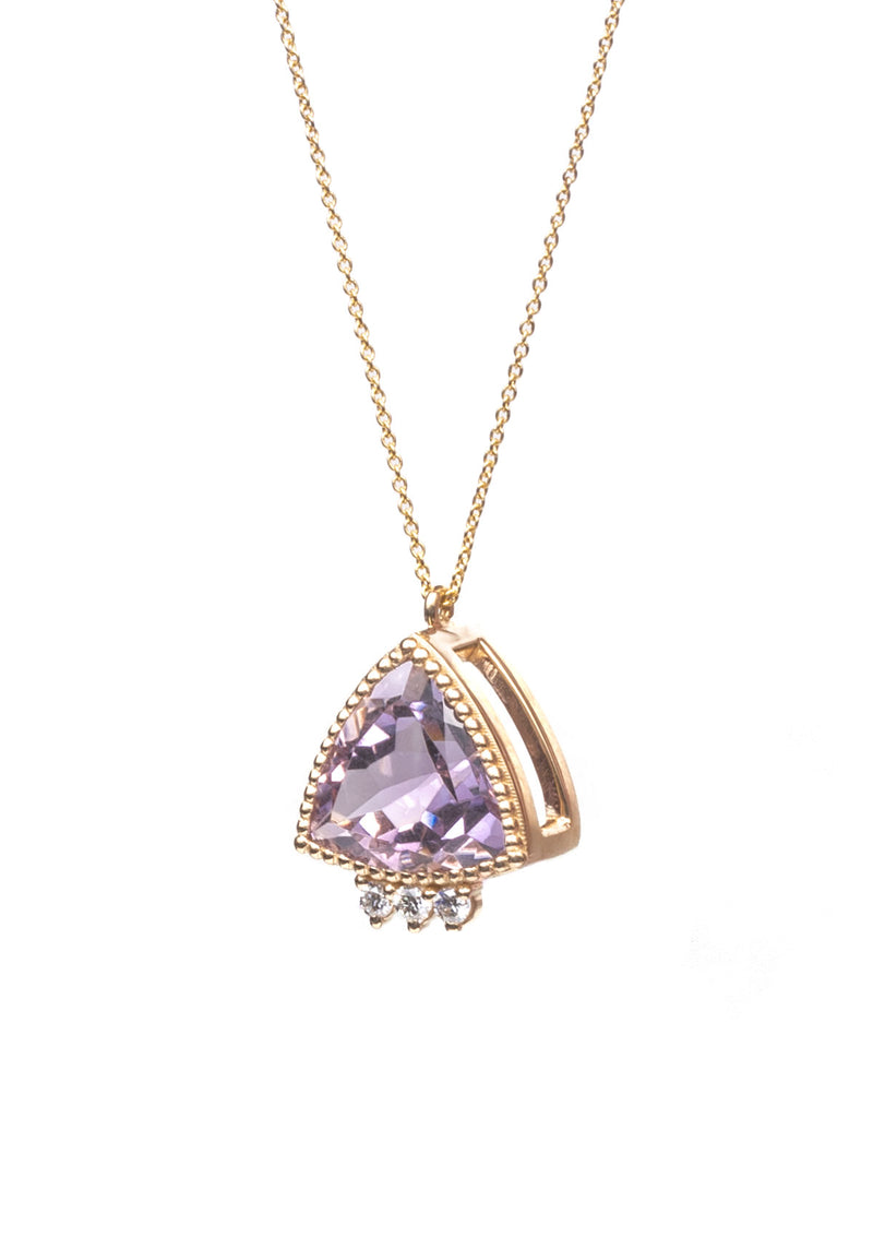 Triad Necklace - Trillion Amethyst