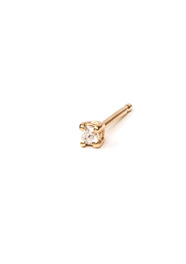 2mm Prong Set Diamond Earring