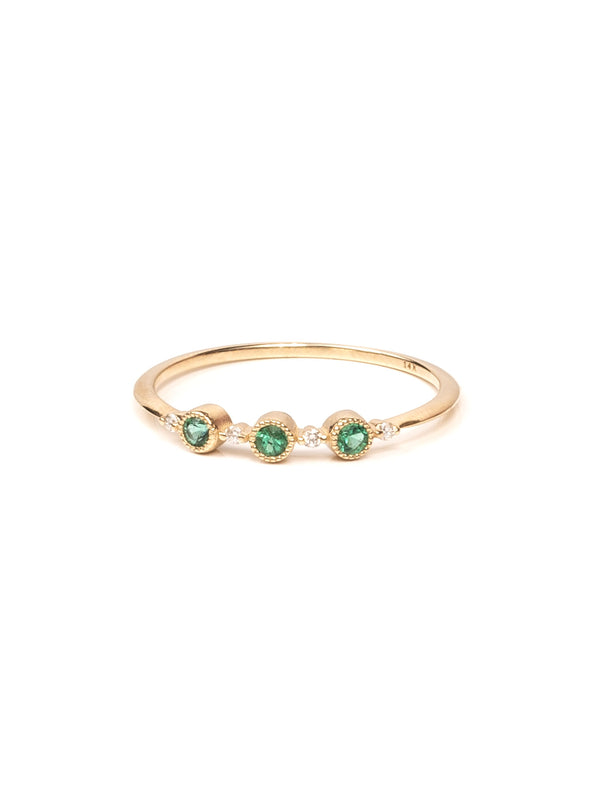 Ellipsis Ring - Emerald