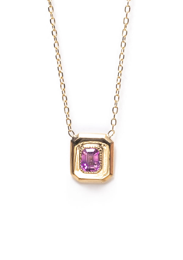 Framed Pink Sapphire Necklace