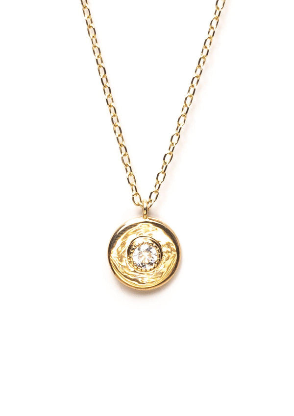 Framed Round Diamond Necklace