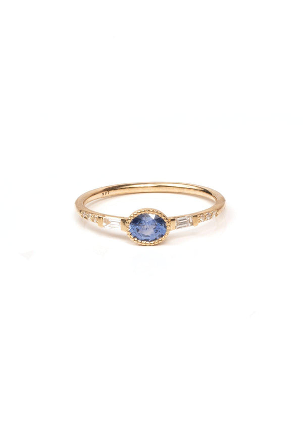 Oval Sapphire Serenity Ring