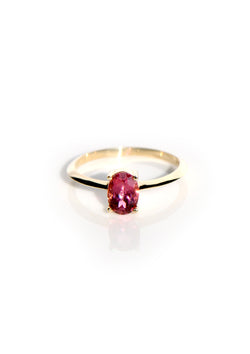 Oval Knife Edge Ring - Tourmaline
