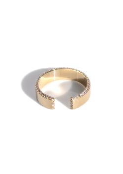 Diamond Open Cuff Ring