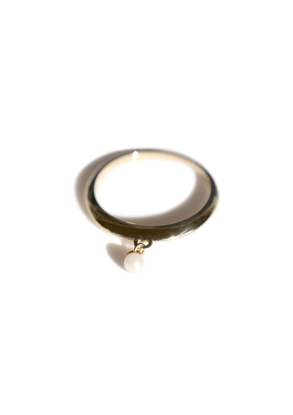Knife Edge Charm Ring