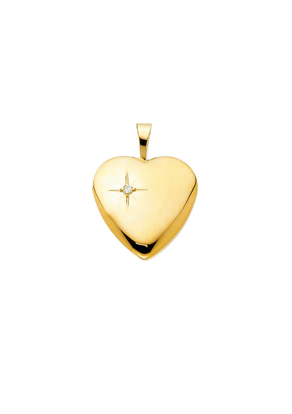 Heart Locket With Diamond