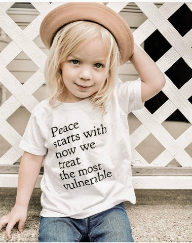 Peace Starts with How we Treat Tee