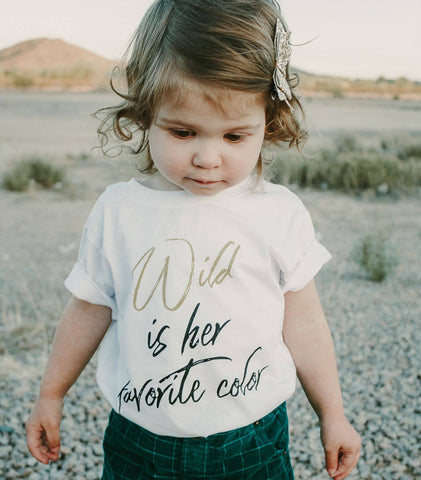 Wild is her favorite color t shirt toddler tee - Old Kentucky