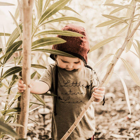Little Nature Lover in Olive Tee