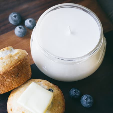 Blueberry Vanilla Hand-poured Candle