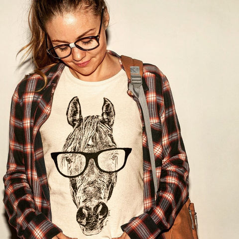 Hipster Horse Unisex Tee