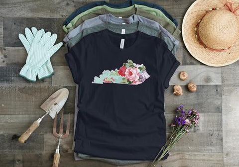 Roses and Mint Kentucky Tee