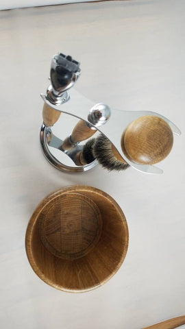 Bourbon Barrel Shaving Set