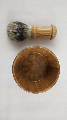 Bourbon Barrel Brush & Bowl